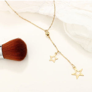 Double Star Pendants Necklace
