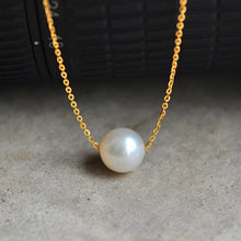 Load image into Gallery viewer, Single Pearl Pendant Necklace