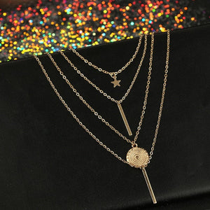 Multi-layer Pendants Necklace