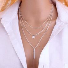 Load image into Gallery viewer, Multi-layer necklace with pendant