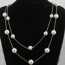 Load image into Gallery viewer, Long Multi-layer Pearl Necklace