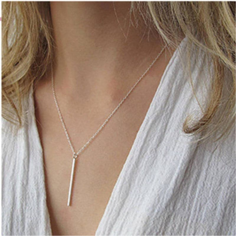 Simplistic Bar Pendant Necklace