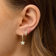 Load image into Gallery viewer, S925 Sterling Silver Star Pendant Earrings