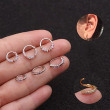 Load image into Gallery viewer, Huggie Hoop Earring without Hinge light color