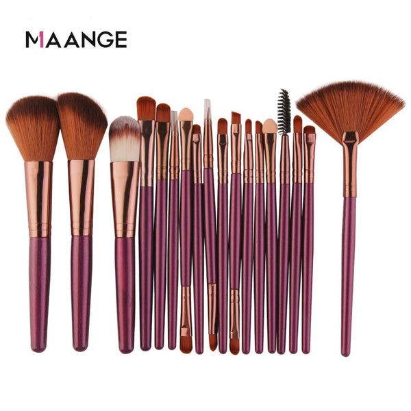 MAANGE 6/15/18Pcs Makeup Brush Set