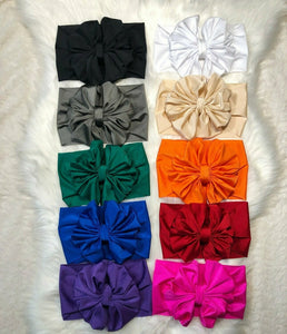 solid color Scrunchy headwrap bow