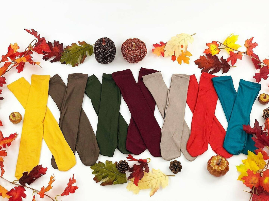 Solid color Knee high socks (different colors)