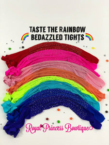 Taste the rainbow Bedazzled fishnets