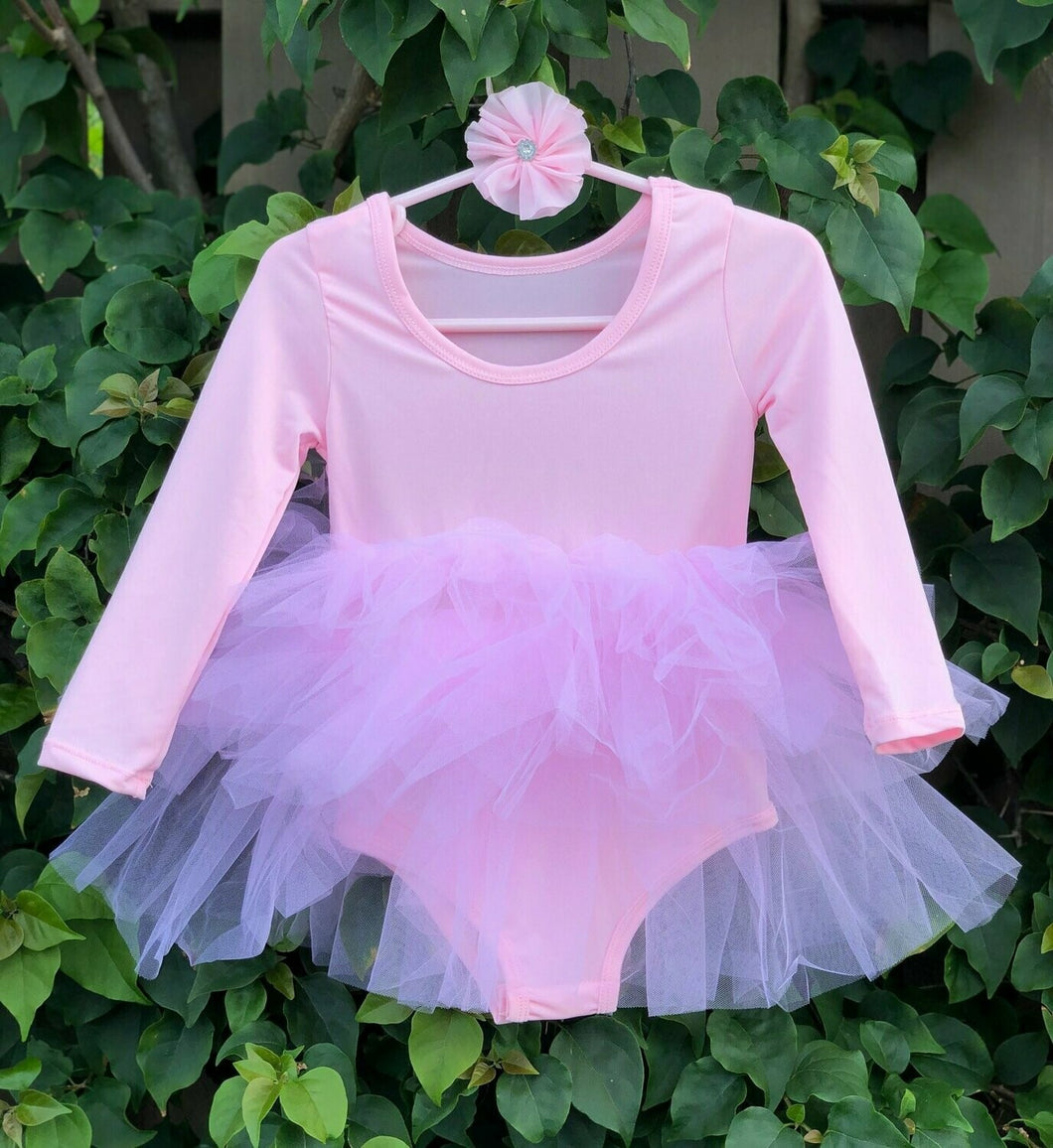 Baby pink Long Sleeves TUTU