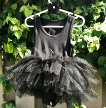 Load image into Gallery viewer, Black Short Sleeves TUTU