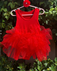 Red Short Sleeves TUTU