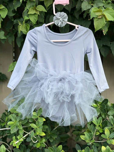 Gray Long Sleeves TUTU