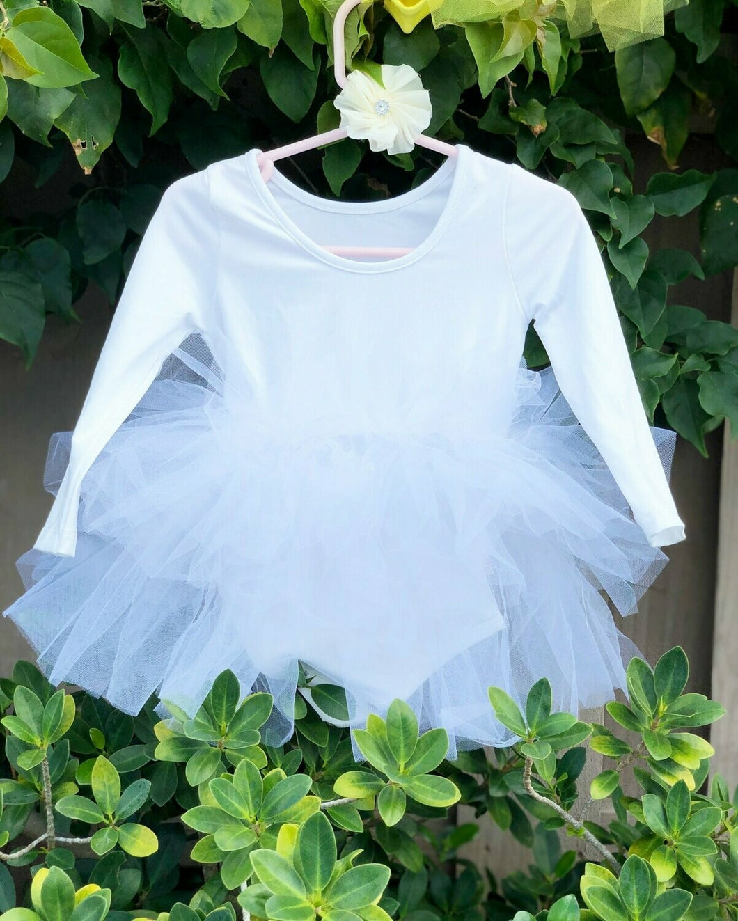 White Long Sleeves TUTU