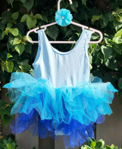Blue Ombre Short Sleeves TUTU (Frozen inspired)