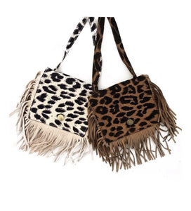 Wild Fringe Suede kids Purse