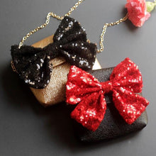 Load image into Gallery viewer, Sparkly bow purse