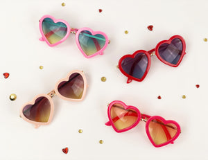 Heart eye sunglasses