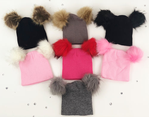 Double Fur beanies (7 colors)