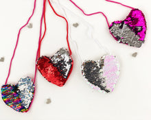 Load image into Gallery viewer, Reversible Heart mini purses