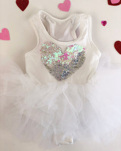 Tutu Sweetheart (Customizable reversible heart TuTu)