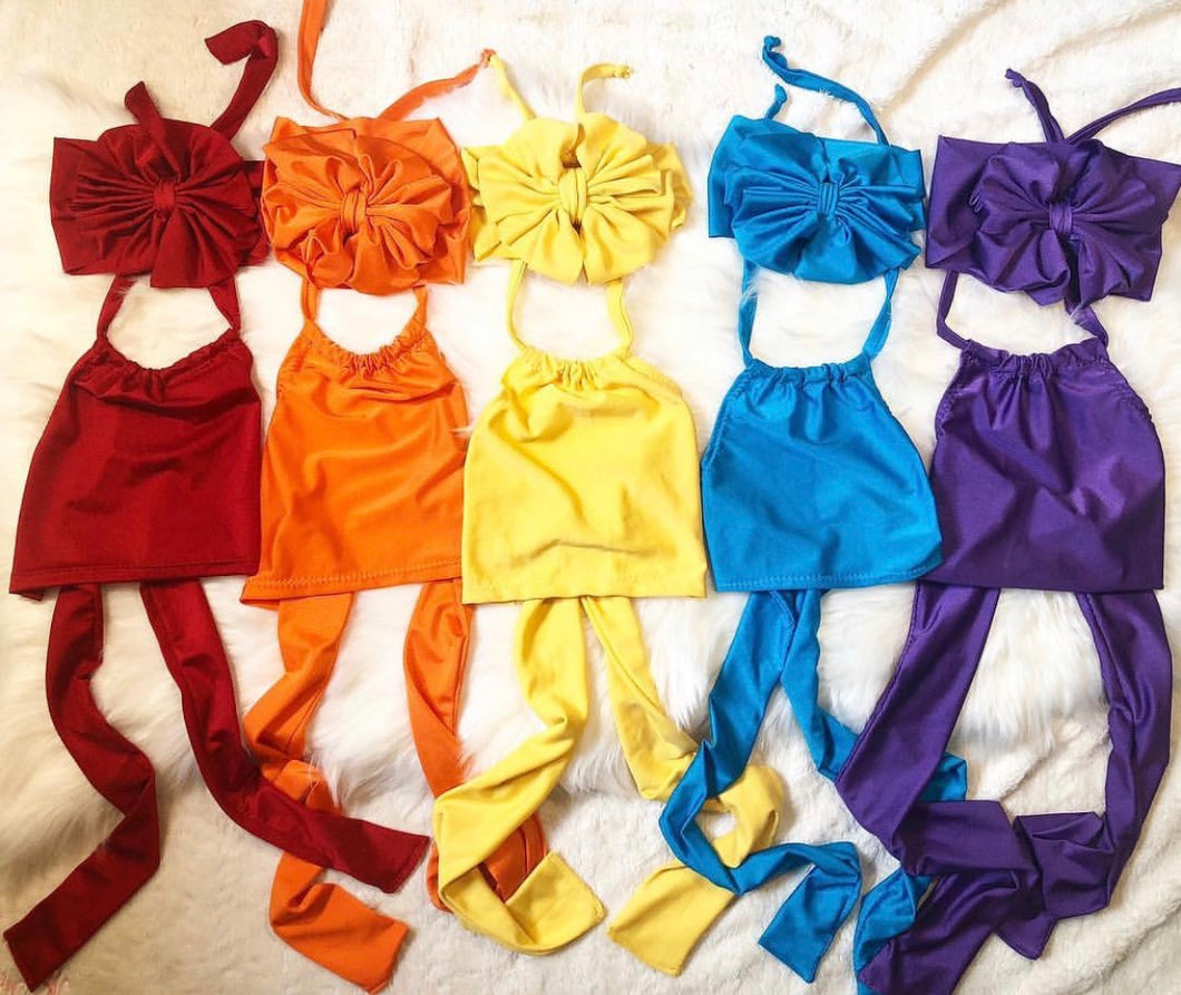 Solid color halter tops (different colors)