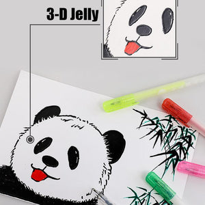 12PCS 3D Glossy Jelly Ink Pen Set