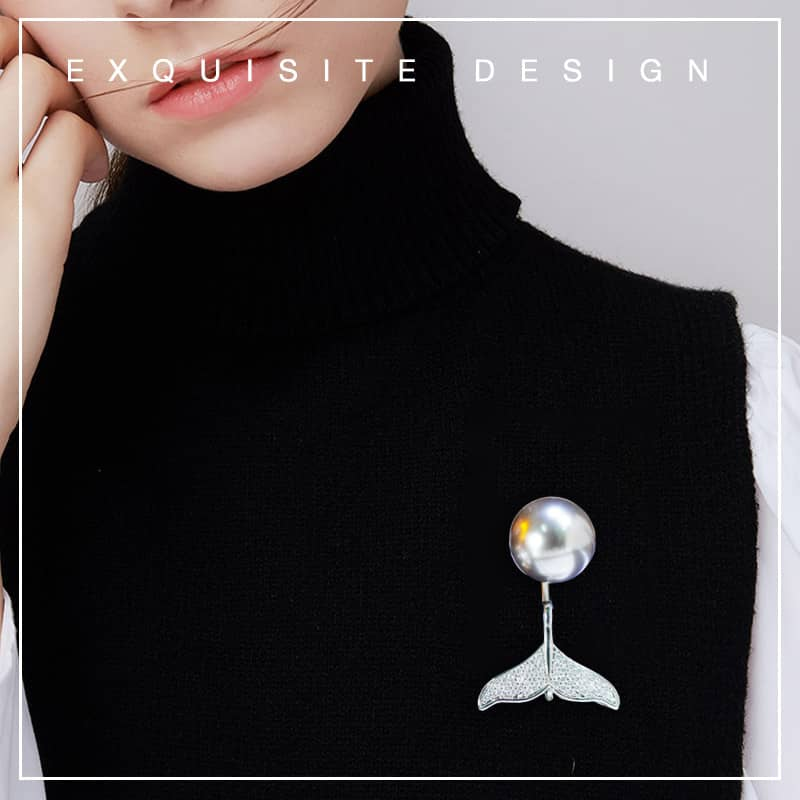 Anti-glare Cardigan Fishtail Brooch(BUY MORE SAVE MORE)
