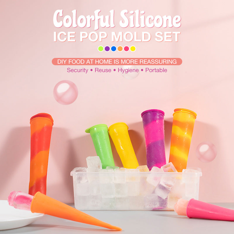 Colorful Silicone Ice Pop Mold Set(3 PCS)