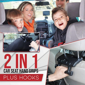 2-in-1 Car Seat Hand Grip Plus Hooks