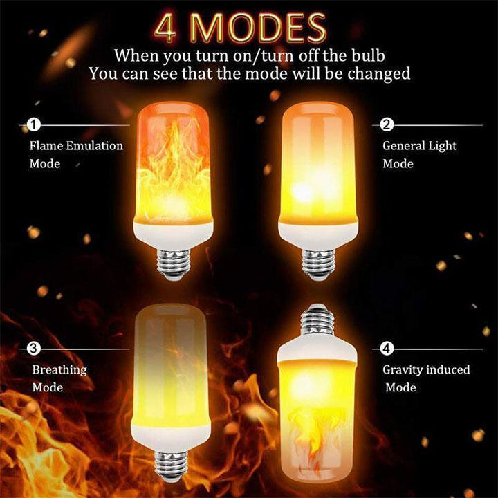 Flame Effect LED Light Bulb for Creating Atmosphere