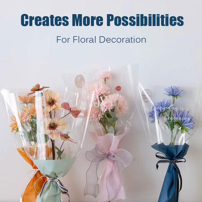 50PCS DIY Floral Decoration Fixing Stickers
