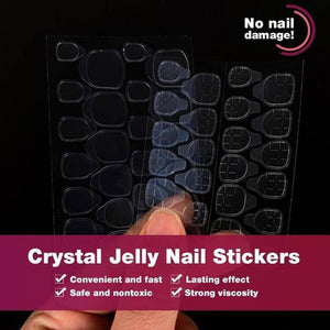 Mysterious Cat Eye Nail Patch with Jelly Gum(24PCS)