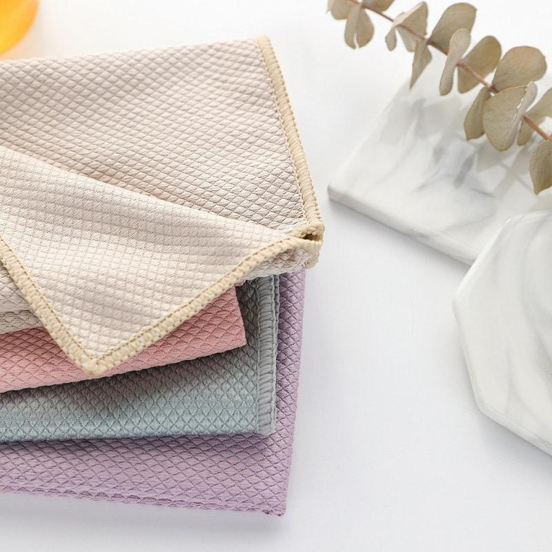 (Black Friday Promotion 50%)Wave Pattern Fish Scale Cloth Rag(2PCS)