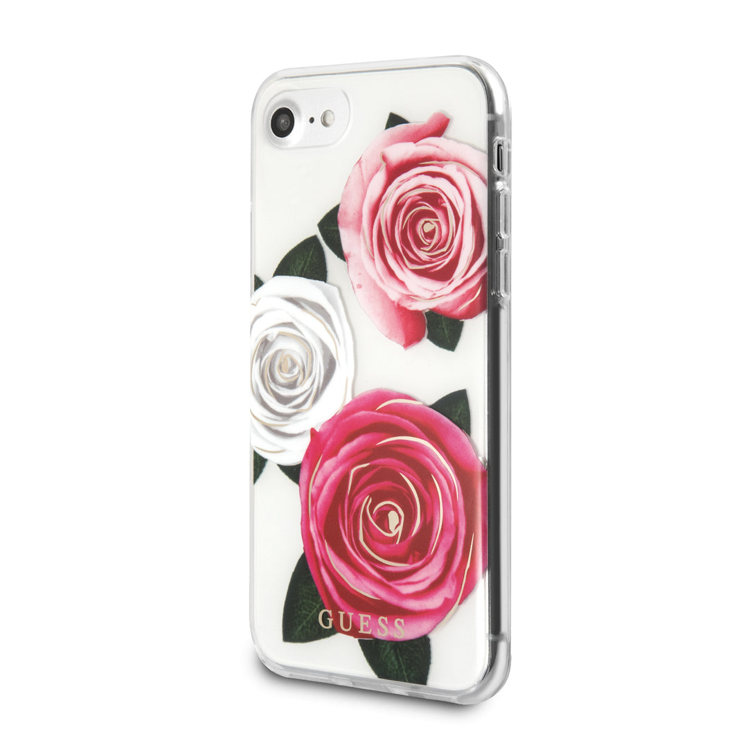 Funda Case Guess Cristal Y Rosas iPhone 6,7,8 y SE