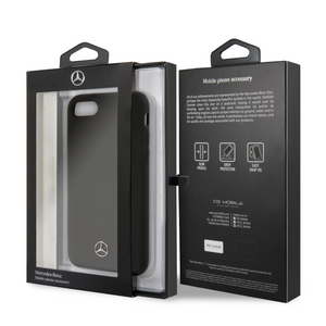 Case Mercedes Benz silicon negra iPhone 6,7,8 y SE