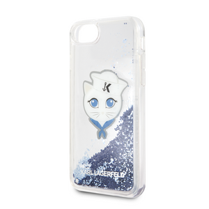 Funda Case Karl Choupete Glitter Azul iPhone 6,7,8 y SE