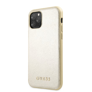 Funda Case Tipo Piel Guess Beige iPhone 11 Pro.