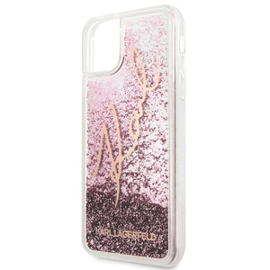 Funda Case Tpu Karl Glitter Rosa iPhone 11 PRO MAX