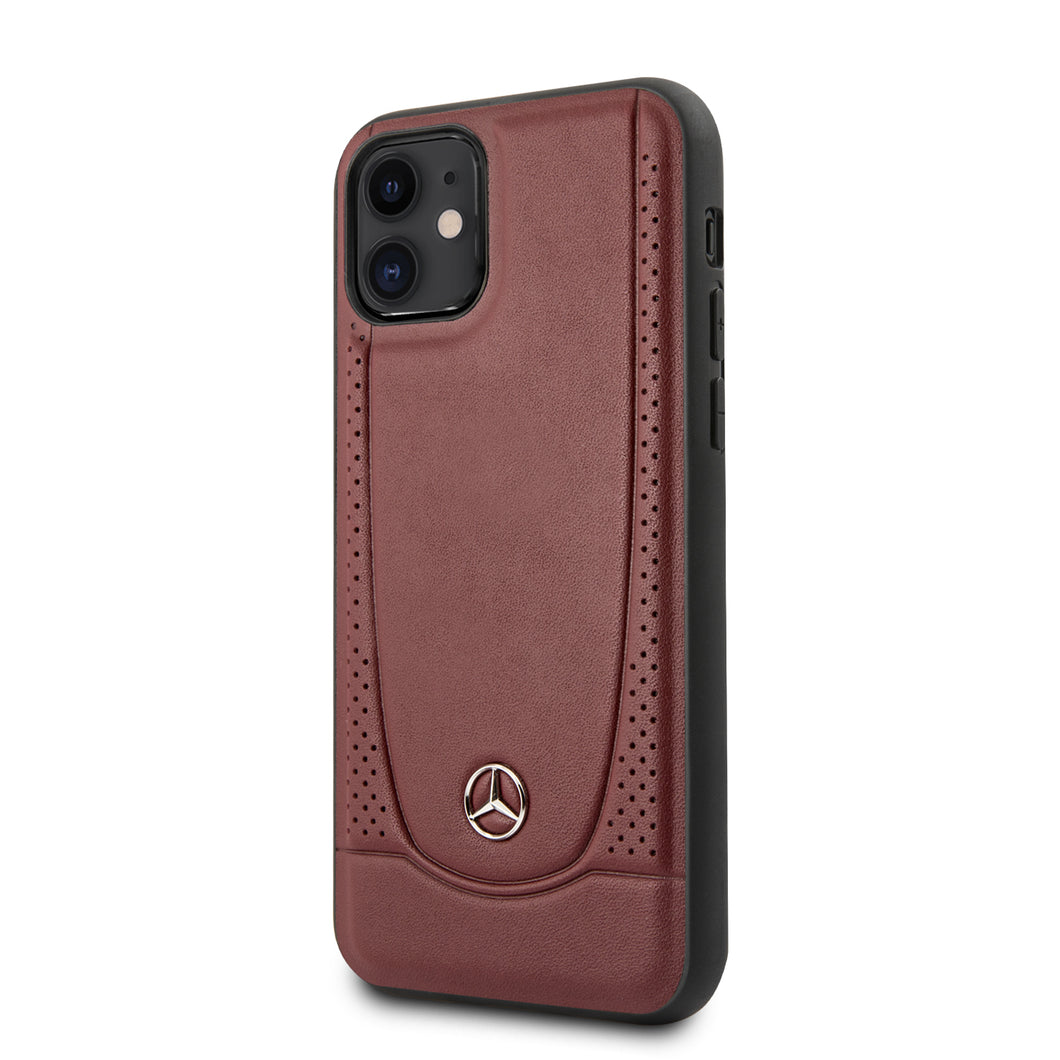 Funda Case Mercedes Benz Perforacion Piel iPhone 11
