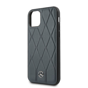 Funda Case Mercedes Benz Navy Piel Azul iPhone 11