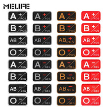 Load image into Gallery viewer, Patch 3D PVC A+ B+ AB+ O+ Positive A- B- AB- O- Negative Blood Type Group, Sport, Hunting & Military Tactical badges - BittyDeal