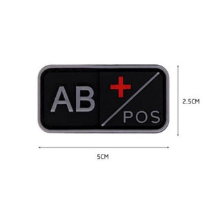 Patch 3D PVC A+ B+ AB+ O+ Positive A- B- AB- O- Negative Blood Type Group, Sport, Hunting & Military Tactical badges - FlexPro