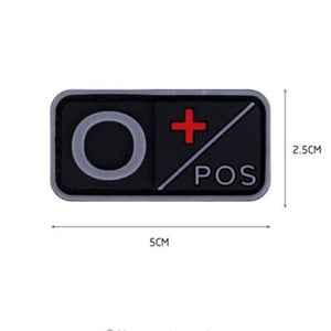Patch 3D PVC A+ B+ AB+ O+ Positive A- B- AB- O- Negative Blood Type Group, Sport, Hunting & Military Tactical badges - BittyDeal