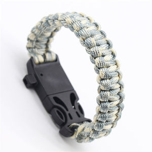 Emergency Paracord Bracelet Whistles, Compass, Multi Functional - BittyDeal