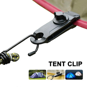 Tent Clip Adjustable Plastic Heavy Duty Windproof Awning Clamp Grip Outdoor Tarpaulin Clips Camping Canopy Clip Nylon Spiral - FlexPro