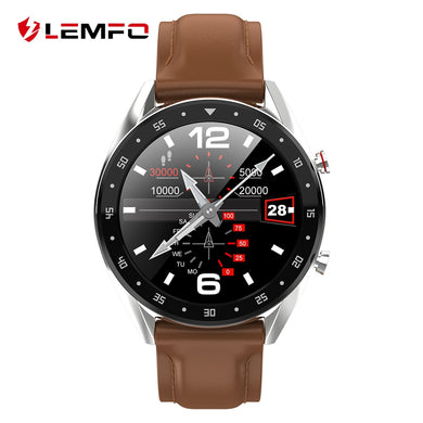 LEMFO L7 Smart Watch men, Waterproof IP68, ECG + PPG Bluetooth Call,  Full Round, Touch Screen - FlexPro