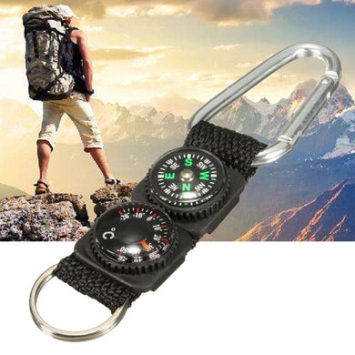 Camping Climbing Hiking Mini Carabiner Keychain  Thermometer hanger Key Chain - FlexPro