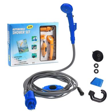 Travel & Camping Shower, DC 12V, Portable set, USB car Washer - FlexPro