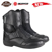 Load image into Gallery viewer, SCOYCO Motorcycle Boots Men Motorcycle Shoes Windproof Botas Moto Motocross Boots Protective Riding Boots 35-46 Autumn Winter - FlexPro