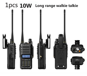 Walkie talkie Baofeng UV-9R plus, 10W, 4800mah, 25 km long range, VHF & UHF ham radio, CB radio station - FlexPro